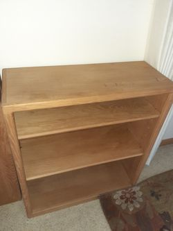 2 wooden bookshelves for Sale in Enumclaw,  WA