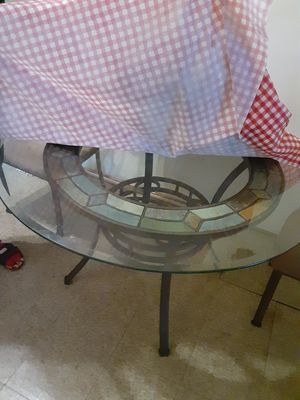Glass dining table with 4 chairs for Sale in Philadelphia, PA