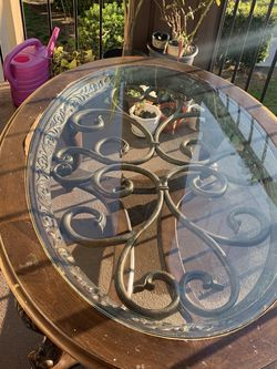 rich dark wood and glass coffee table for Sale in Long Beach,  CA