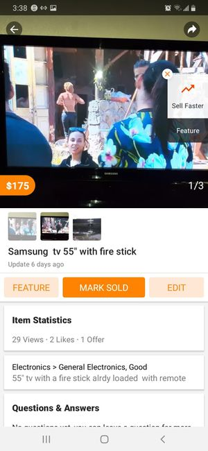 55 inch Samsung for Sale in Fort Worth, TX