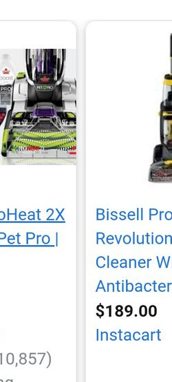 Bissell Pro Heat 2x Revolution Carpet Pro Cleaner for Sale in Long Beach,  CA