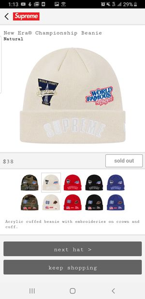 Supreme new era beanie natural fw/19 CONFIRMED for Sale in Rifle, CO