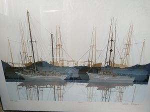 Vintage original thornhil painting 52/200 boat nautical from gallery framed for Sale in Colorado Springs, CO