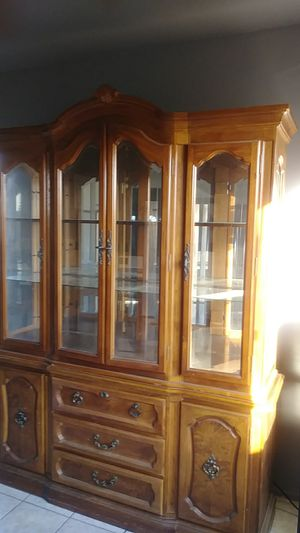Cabinet.good condictoin nice with inside lights. All this is free its up to you came and pic up soon phone #909. 419. 1519 for Sale in Montclair, CA