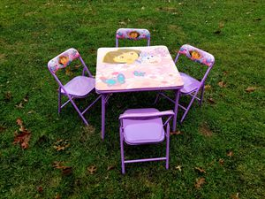 Dora table and chairs set for Sale in Williamsport, PA
