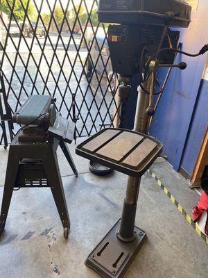Craftsman drill press , disk and belt sander, slip roll and sheer for Sale in Torrance, CA