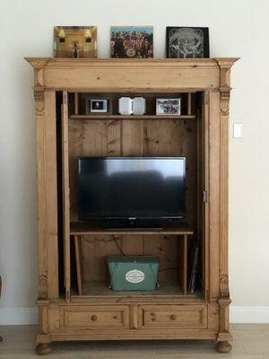 Antique solid pine armoire / chest for Sale in Coronado, CA
