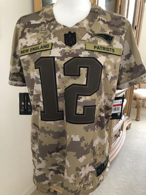 Authentic Nike Women's New England Patriots Tom Brady # 12 Salute to Military DRI Fit Team Jersey Size Large $170 for Sale in Springfield, MA