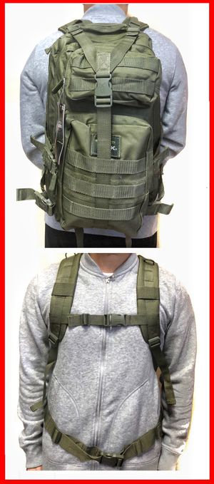NEW! Tactical military style Backpack molle hydration pack camping hiking fishing work gym school book travel bag for Sale in Carson, CA