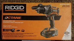 Brand New Ridgid 18v Octane Hammer Drill with 3.0ah Battery and Charger - Brand New!! for Sale in Nashville, TN