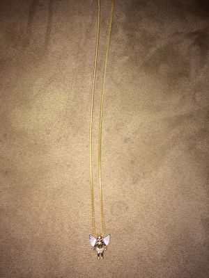 Gold chain with Diamond angel piece for Sale in Boston, MA