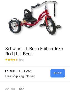 Schwinn L.L. Bean Edition Tricycle Bike Hipster kid! for Sale in Orlando, FL