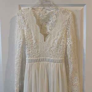 White Long Lacy Dress for Sale in Portland, OR