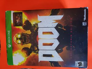 Xbox one doom collectors edition statue steel book game for Sale in Henderson, NV