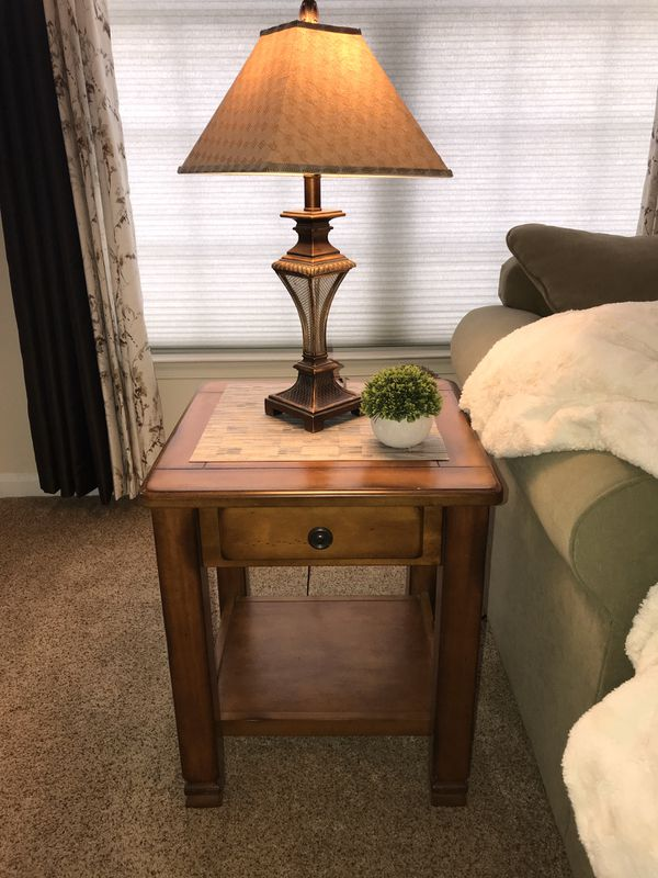 Rustic Farmhouse Pine End Tables