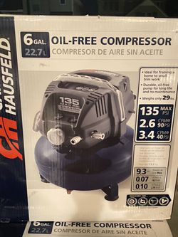 Brand New Campbell Hausfeld 6 gallon oil free air compressor for Sale in Katy,  TX