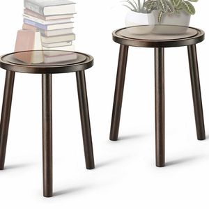 LITADA Wood Plant Stands (Set of 2) Mid Century Small Side Table, 15.8'' Tall – Round Side End Table Flower Pot Holder Home Decor (Plant and Pot NOT I for Sale in Las Vegas, NV