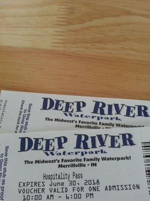 2 tickets to waterpark for Sale in Fort Wayne, IN
