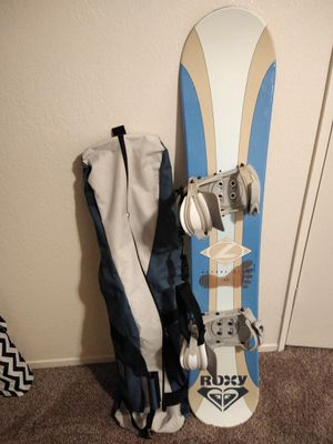 Lamar snowboard, bindings, & travel bag for Sale in Clovis, CA