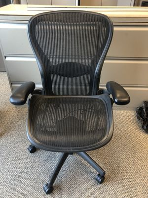 Black Aeron Herman Miller office chair for Sale in Lithonia, GA