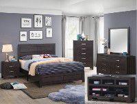 Bedroom set Queen bed +Nightstand +Dresser +Mirror for Sale in Artesia, CA