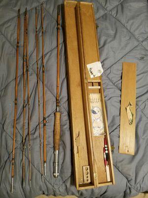 Grandpus bamboo fly fishing rod. Freshwater set for Sale in Las Vegas, NV