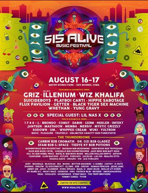 2 Tickets/2 Two day passes for 515 Alive Festival for Sale in Cedar Rapids, IA