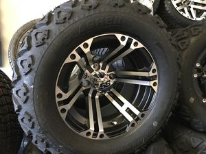 22x11-12 golf cart tires and wheels for lifted carts for Sale in Beaumont, CA