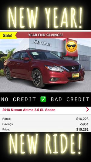 2018 Nissan Altima 2.5 sl red Automatic Clean Title leather interior for Sale in Downey, CA
