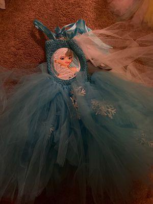 Elsa tutu long dress for Sale in Glendale, AZ