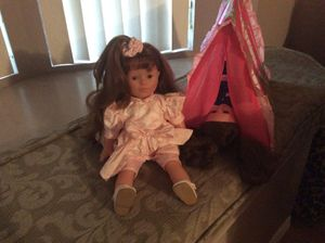 American girl dolls and tent for Sale in Port St. Lucie, FL