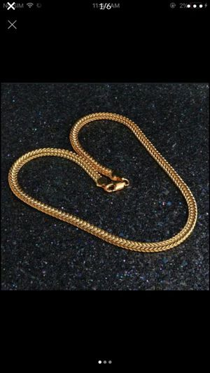 "18k gold filled 18k stamped 20"" 6mm necklace chain for Sale in Silver Spring, MD"