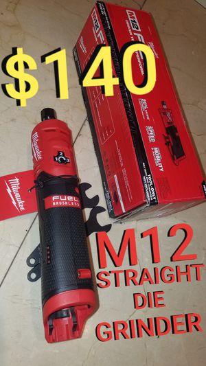 Milwaukee Straight die grinder - m12 fuel for Sale in Los Angeles, CA