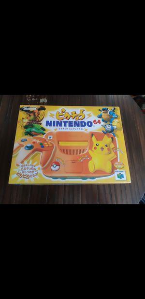 Nintendo 64 Orange Pokemon Pikachu System CIB *Japan Edition* for Sale in Everett, WA