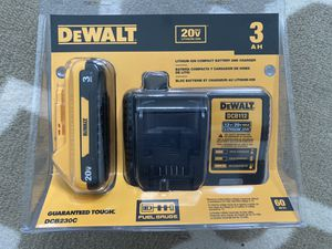 Brand new DeWalt 3Ah 20V battery and charger. for Sale in Riverview, FL