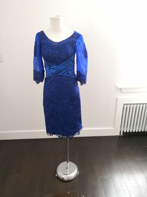 New Sz6 Royal Blue Short Mother Of Bride Formal Dress for Sale in Jersey City, NJ