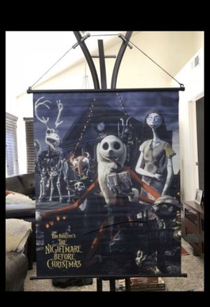 """NECA ORIGINAL The Nightmare Before Christmas 27"""" x 34"""" Fabric Wall Scroll Poster LIMITED EDITION RARE DISCONTINUED - BULK LOT WHOLESALE - HALLOWEEN S for Sale in Fontana, CA"""