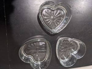 Glass heart containers for Sale in Kirkland, WA