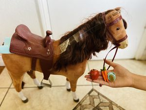 American doll horse with accessories for Sale in Whittier, CA