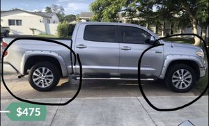 """2016 Toyota Tundra Riveted Wheel Well Fender Flares 2 Front, 2 Rear Easy to install!! Need to sell ASAP!!! Original Toyota Parts """"Truck not for sale for Sale in Kendale Lakes, FL"""