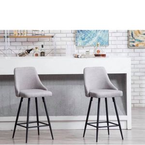 Set Of 2 Gray Fabric Barstools Counter Stools Gray Tufted Bar Chairs Counter Fabric Stools for Sale in Tustin, CA