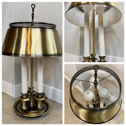 Vintage French Frederick Brass Bouillotte Candlestick Lamp with Metal Shade for Sale in Tigard,  OR