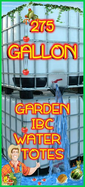 💦WATER TOTES💦☔️RAIN TOTES☔️🍅GARDEN TOTES🍅🚨EMERGENCY WATER TOTES🚨 for Sale in Goldsboro, NC