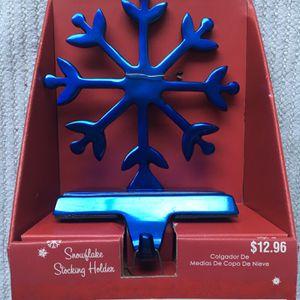 Snowflake Stocking Holder, Blue for Sale in Zephyrhills, FL