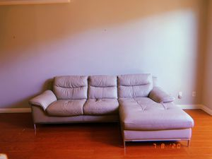 Real Leather Sectional Sofa for Sale in Los Angeles, CA