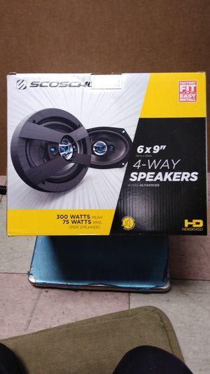 """Scosche 6x9"""" - 4 way speakers 300w Peak for Sale in Philadelphia, PA"""