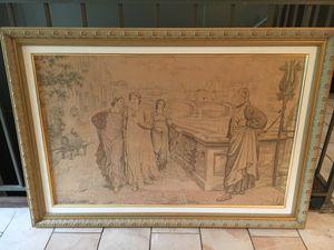 Vintage large tapestry, finely framed for Sale in Bethesda, MD
