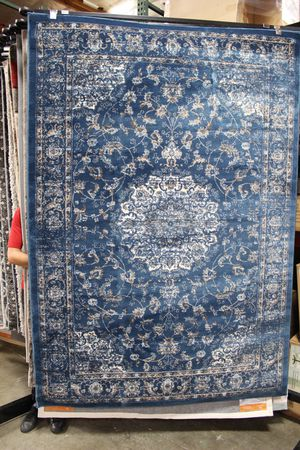 Lilja Distressed Vintage 5x8 Area Rug, Blue & Beige & Ivory, R-1127A-58 for Sale in Pico Rivera, CA