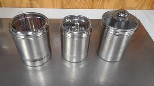 Kitchen(3)stainless storage containers for Sale in Woodhaven, MI