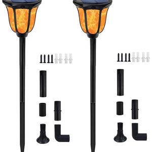 Solar Lights Outdoor Flickering Flames Solar Torches Landscape Solar Torch Light Lighting Dusk to Dawn Auto On/Off Outdoor Solar Pathway Lights for Pa for Sale in Chino, CA